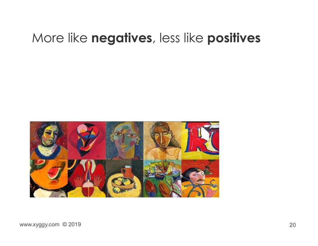 20 More like negatives, less like positives www...