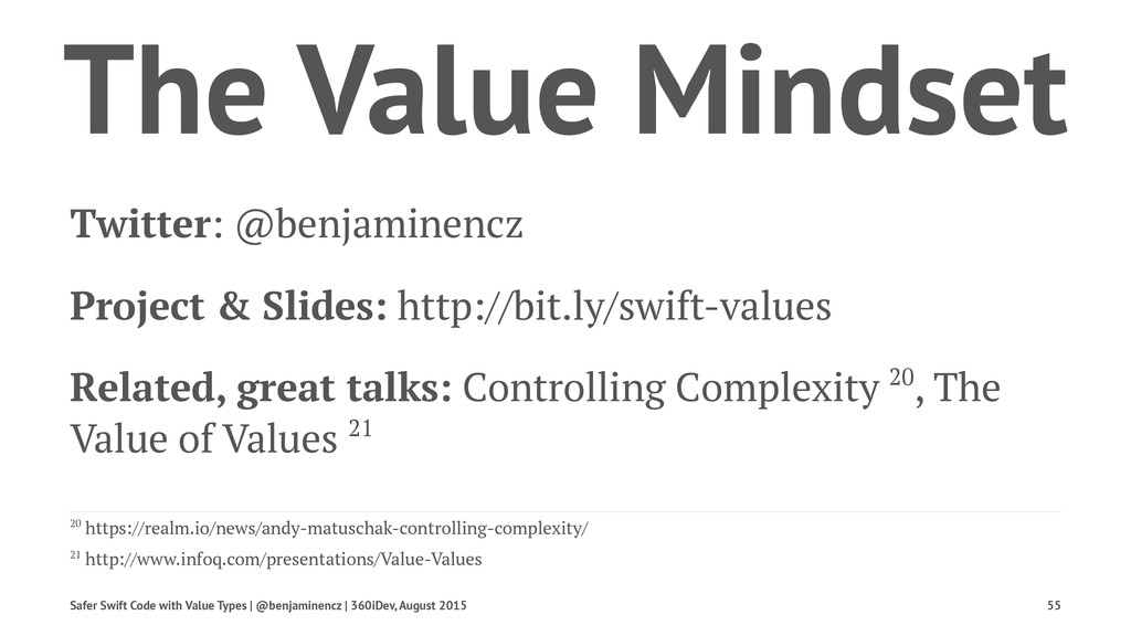 The Value Mindset Twitter: @benjaminencz Projec...