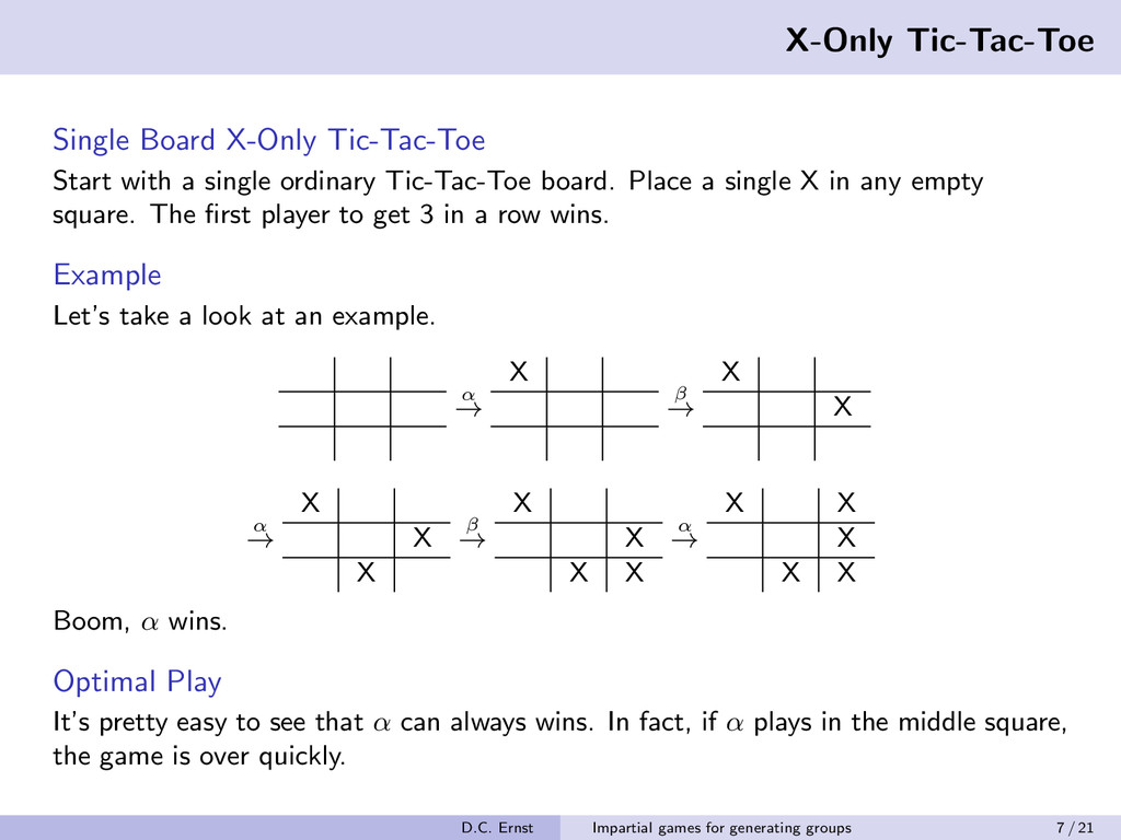 X-Only Tic-Tac-Toe Single Board X-Only Tic-Tac-...
