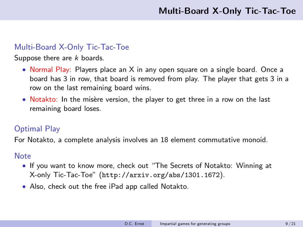 Multi-Board X-Only Tic-Tac-Toe Multi-Board X-On...