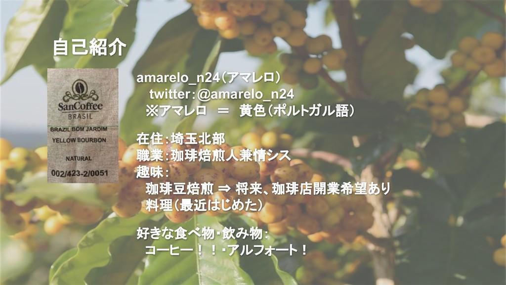 自己紹介 amarelo_n24(アマレロ)   twitter:@amarelo_n24  ...