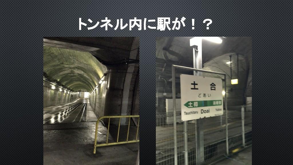 トンネル内に駅が!?