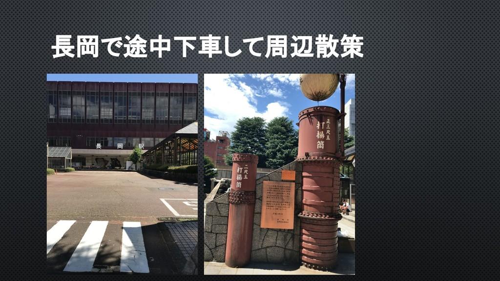 長岡で途中下車して周辺散策