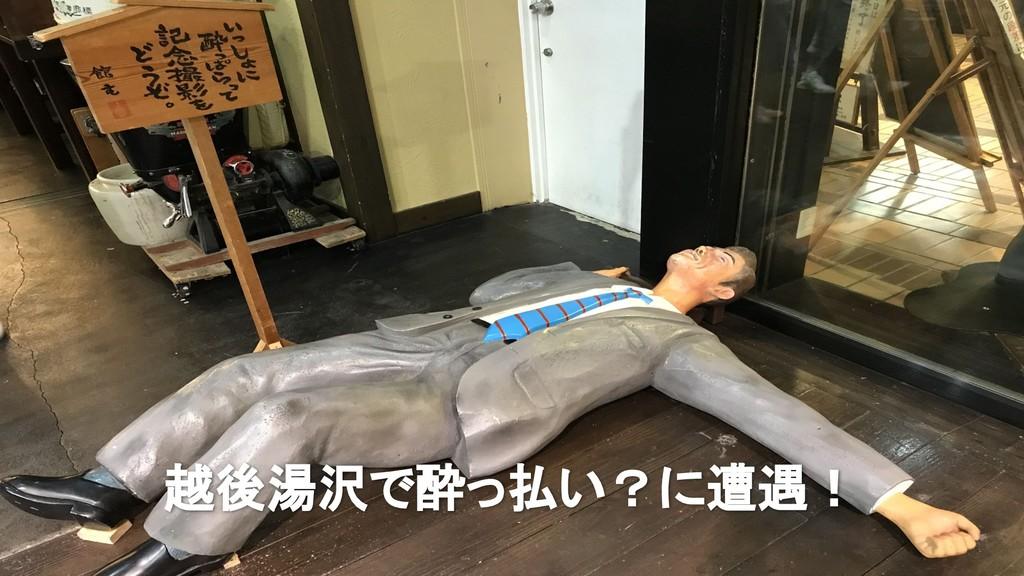 越後湯沢で酔っ払い?に遭遇!