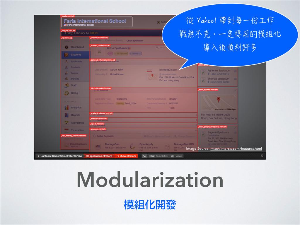 Modularization 模組化開發 ㉿;CJQQㄗ┑㺰⃡⇞テ∽ 㔑䐂⃮珮⃡㉸...