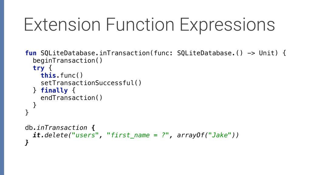 Extension Function Expressions fun SQLiteDataba...