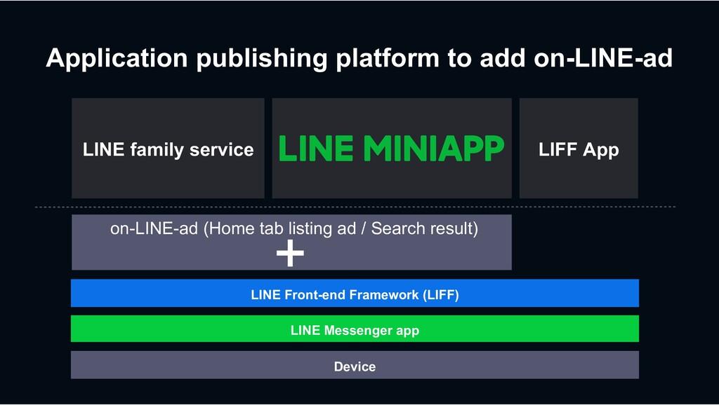 Device LINE Messenger app LINE Front-end Framew...
