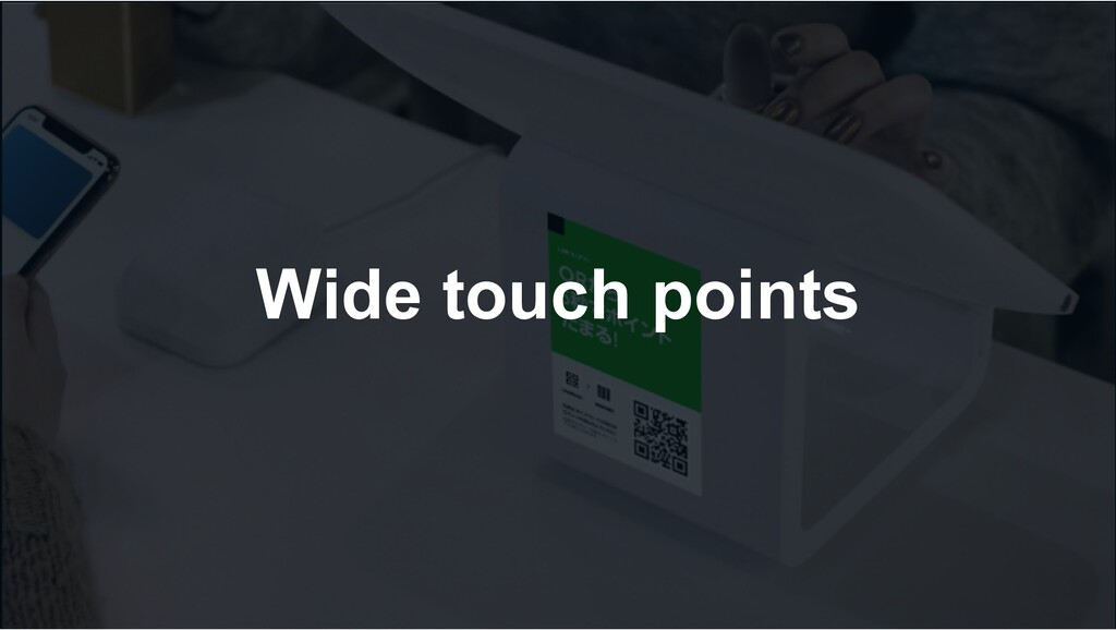 Wide touch points