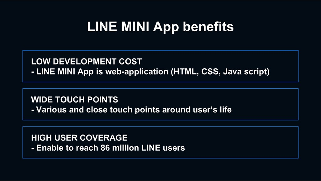 LINE MINI App benefits HIGH USER COVERAGE - Ena...