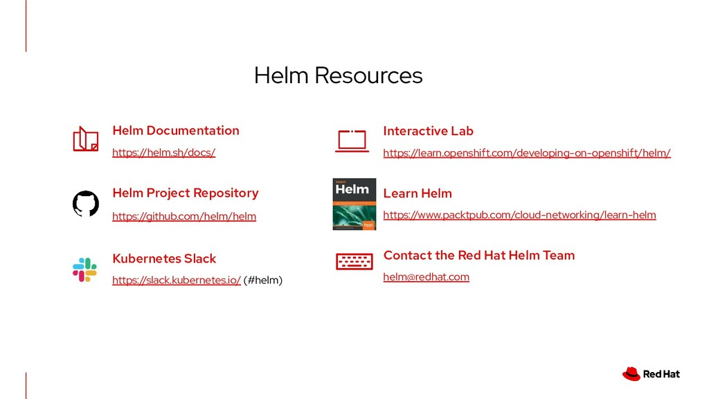Helm Resources Helm Documentation https://helm....