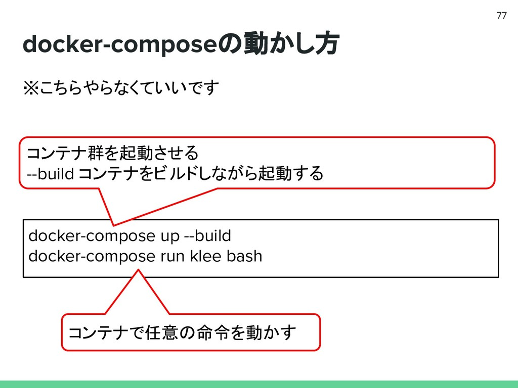docker-composeの動かし方 77 docker-compose up --buil...