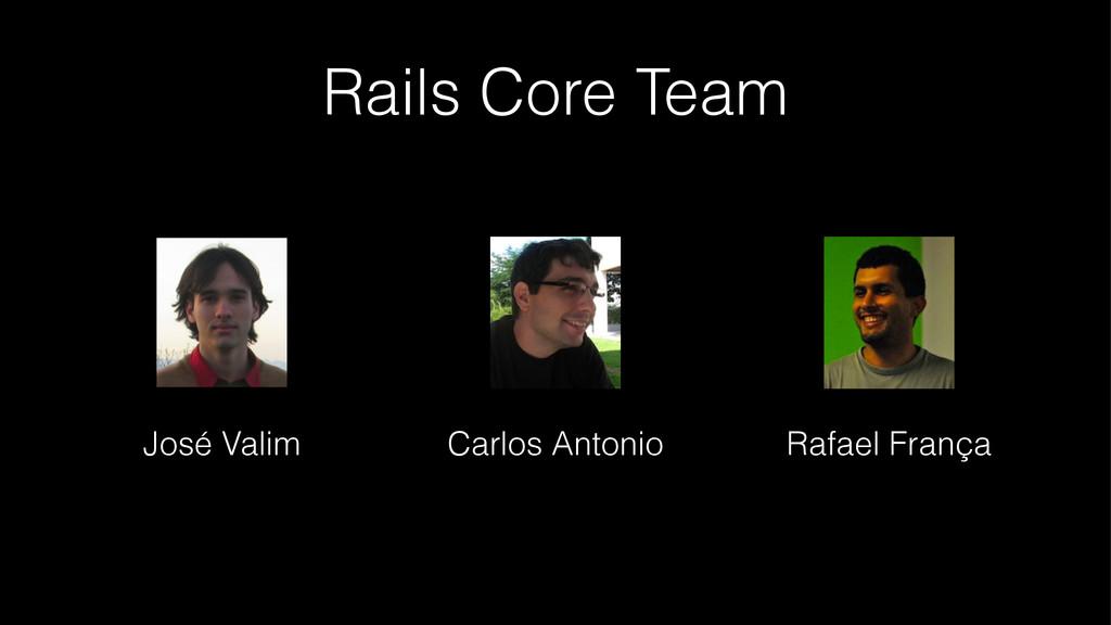 Rails Core Team José Valim Carlos Antonio Rafae...