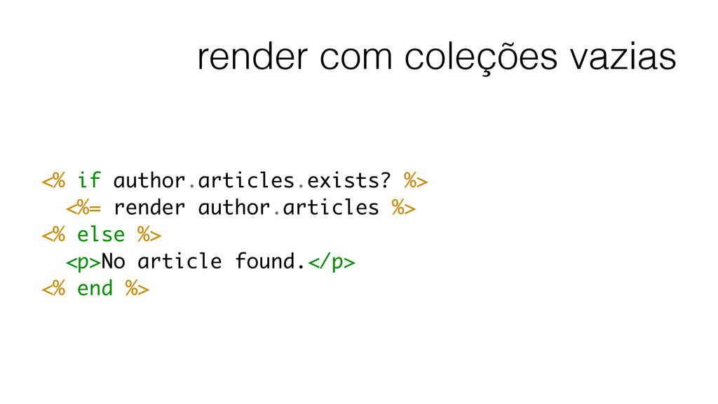 render com coleções vazias <% if author.article...