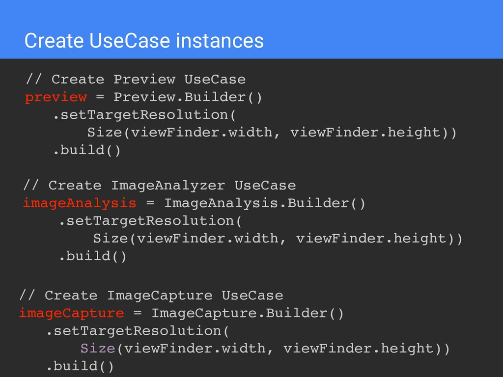 Create UseCase instances // Create Preview UseC...