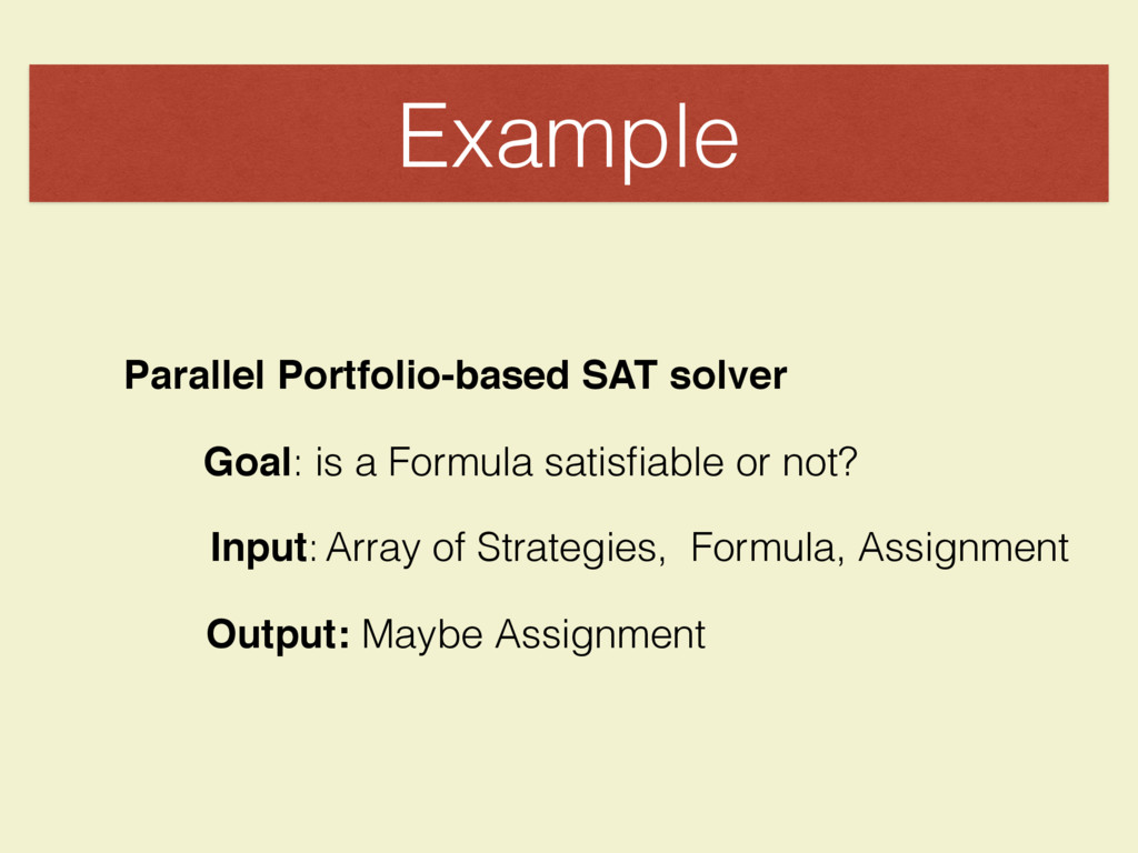 Example Parallel Portfolio-based SAT solver Goa...