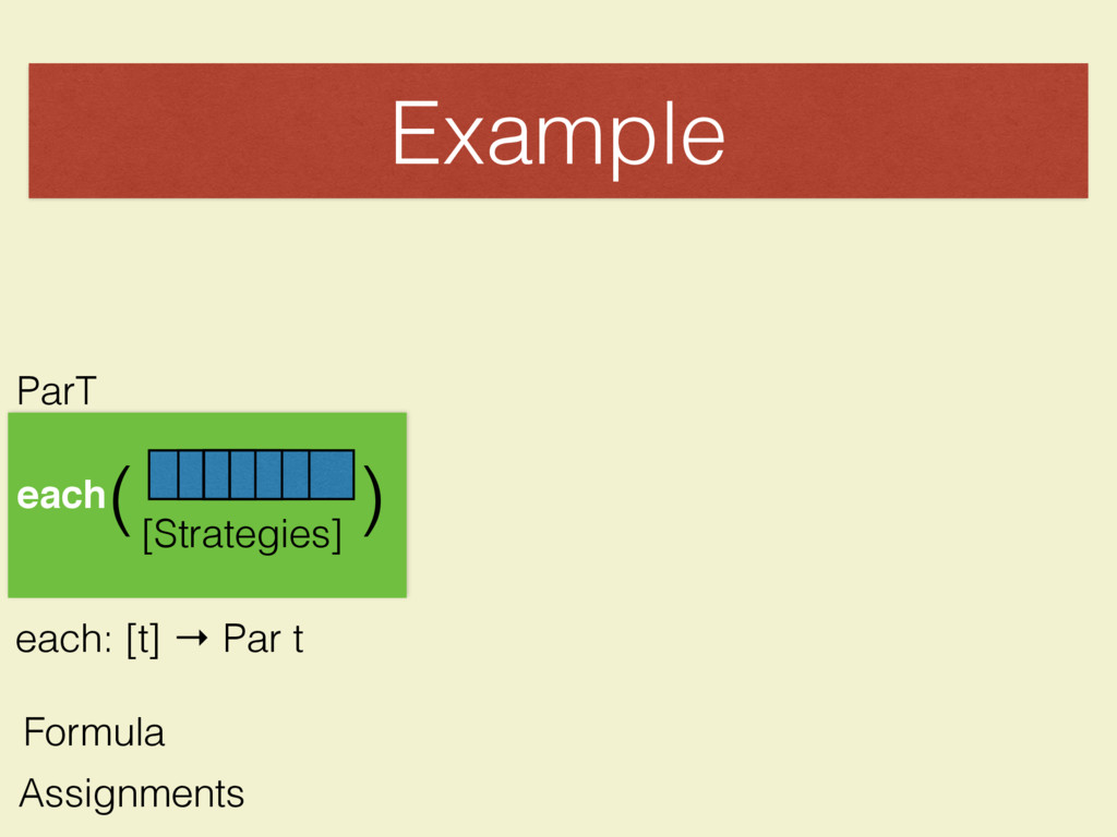 Example [Strategies] each( ( ParT each: [t] → P...