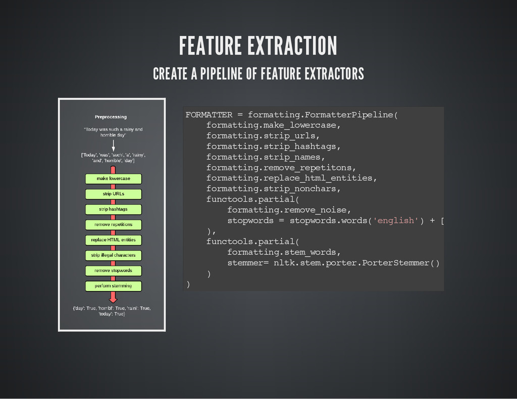 FEATURE EXTRACTION CREATE A PIPELINE OF FEATURE...