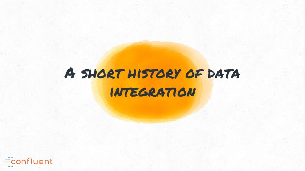 A short history of data integration