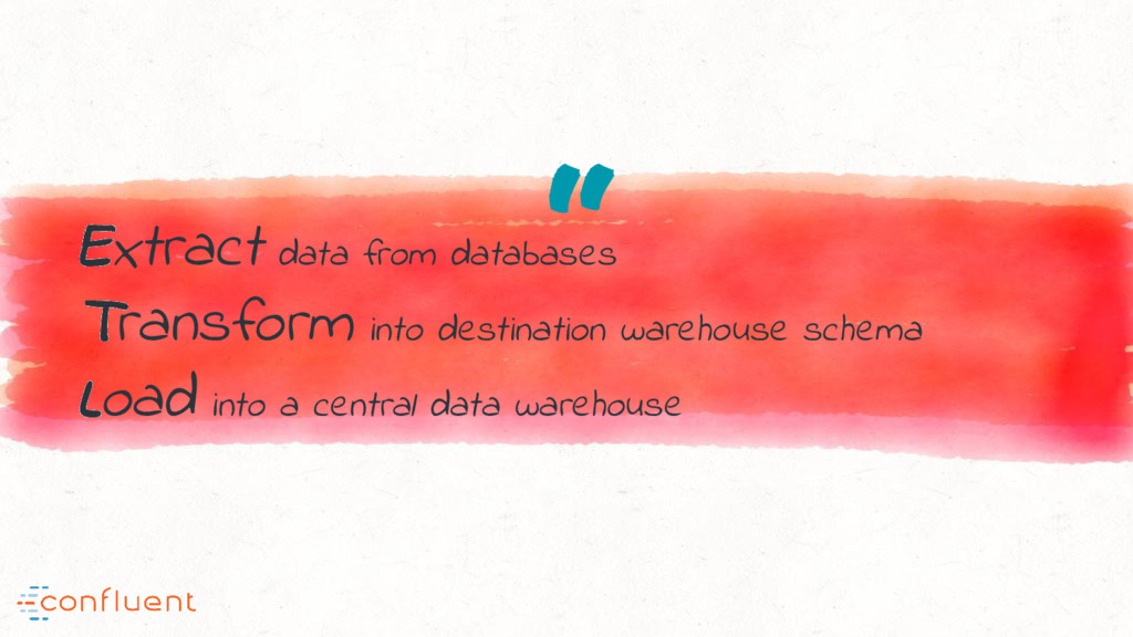 """ Extract data from databases Transform into de..."