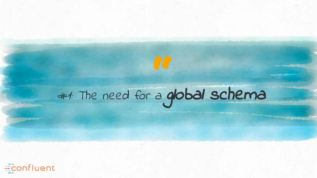""" #1: The need for a global schema"