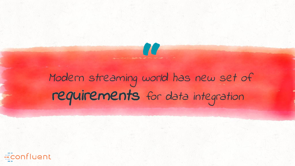 """ Modern streaming world has new set of require..."