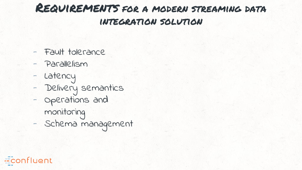 Requirements for a modern streaming data integr...