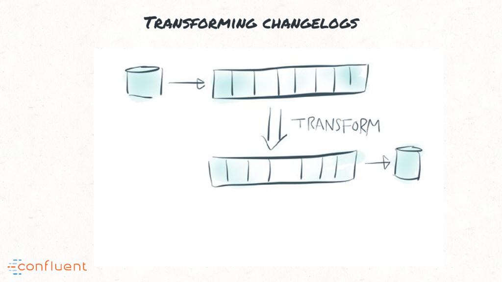 Transforming changelogs
