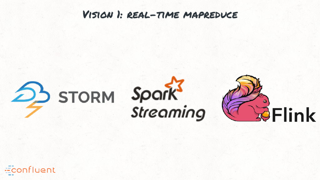 Vision 1: real-time mapreduce