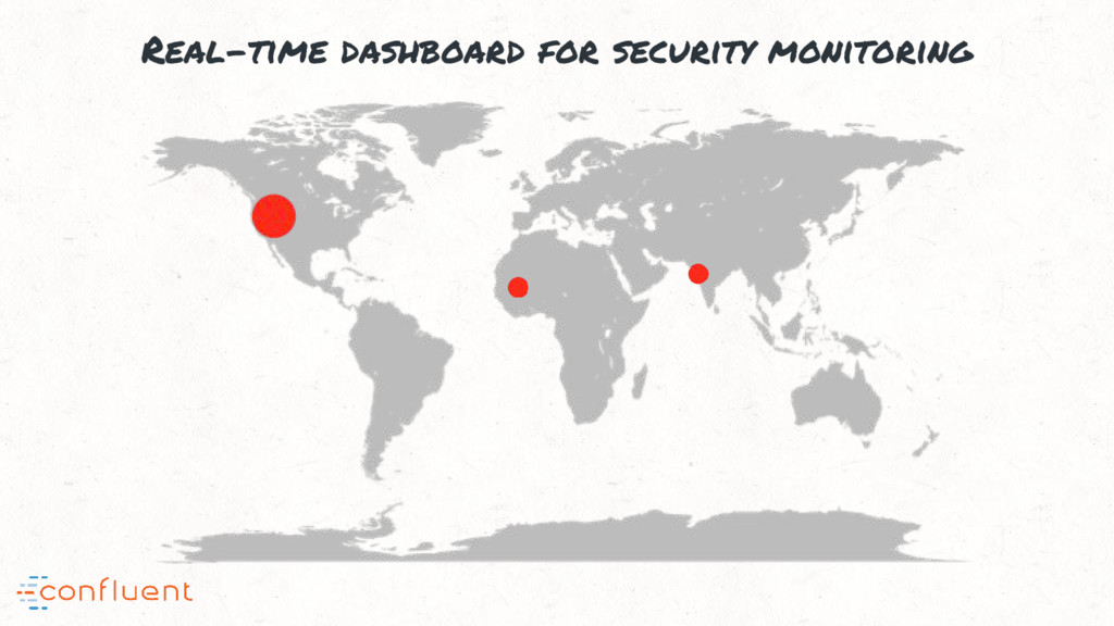 Real-time dashboard for security monitoring