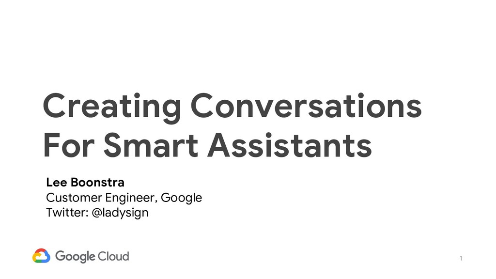 1 Creating Conversations For Smart Assistants L...