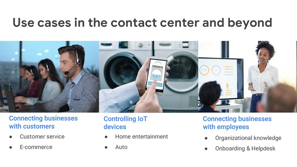 Use cases in the contact center and beyond ● Cu...