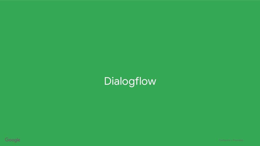 Confidential + Proprietary Dialogflow
