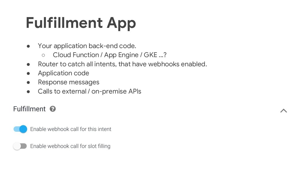 34 ● Your application back-end code. ○ Cloud Fu...