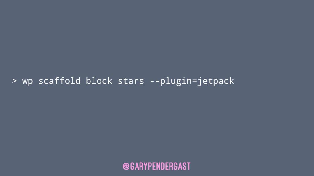 > wp scaffold block stars --plugin=jetpack @GAR...