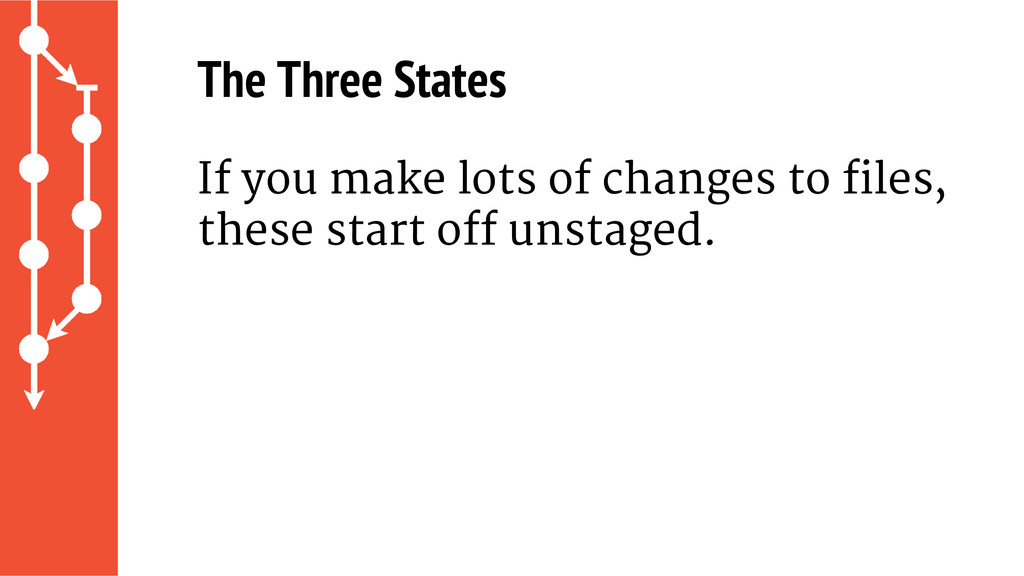 The Three States If you make lots of changes to...