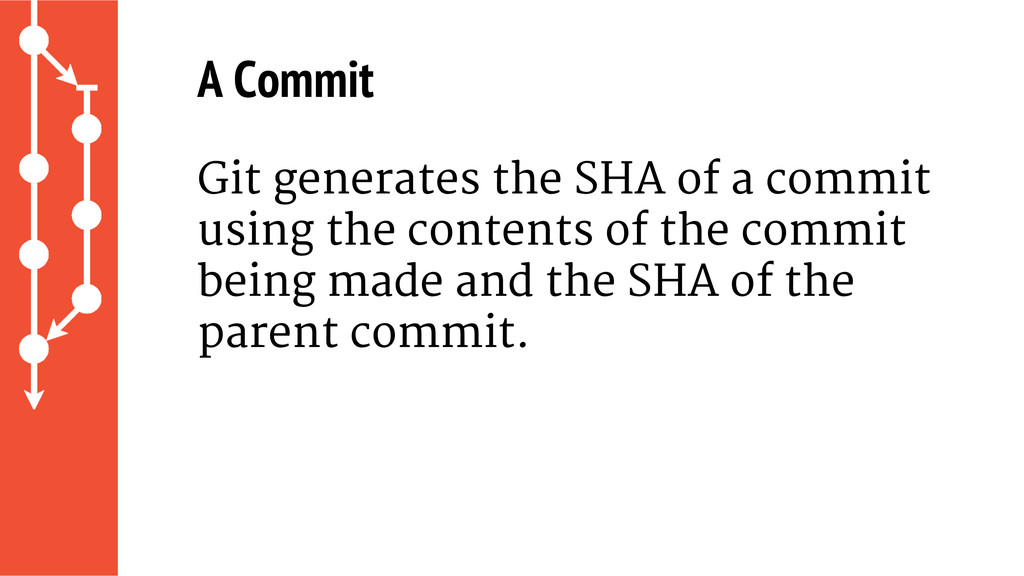 A Commit Git generates the SHA of a commit usin...