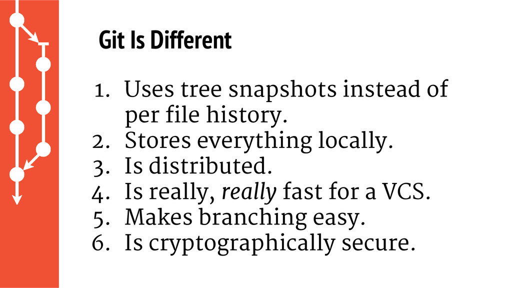 1. Uses tree snapshots instead of per file hist...