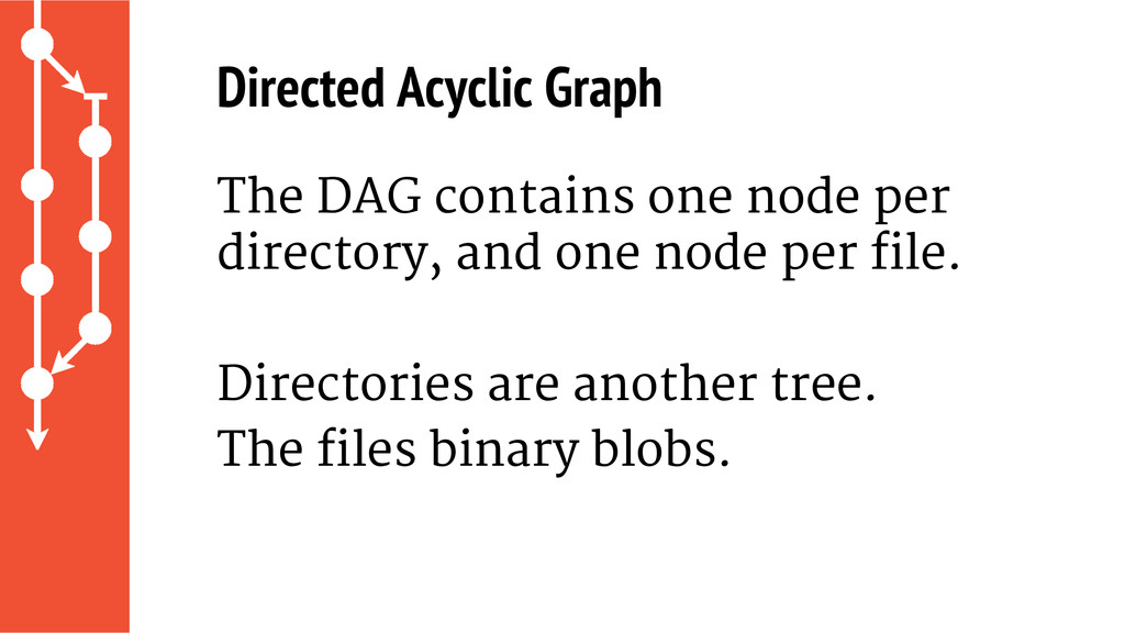 The DAG contains one node per directory, and on...