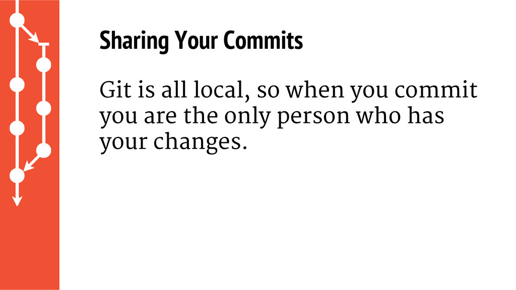 Git is all local, so when you commit you are th...