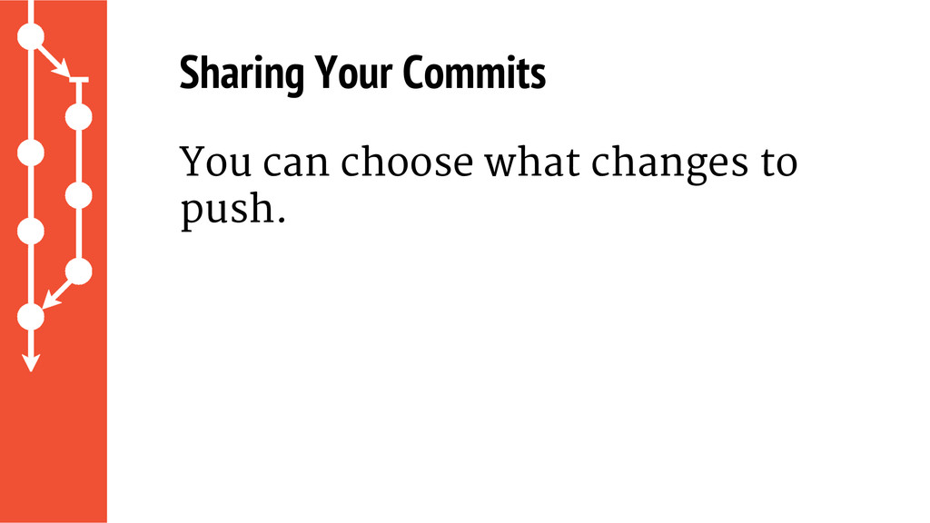 Sharing Your Commits You can choose what change...