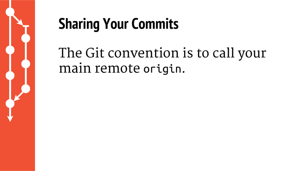 Sharing Your Commits The Git convention is to c...