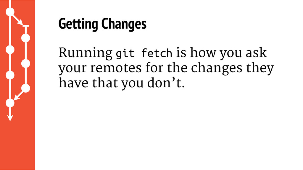 Getting Changes Running git fetch is how you as...