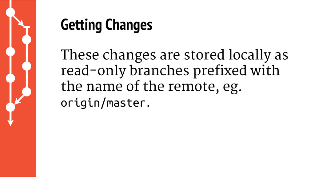 Getting Changes These changes are stored locall...