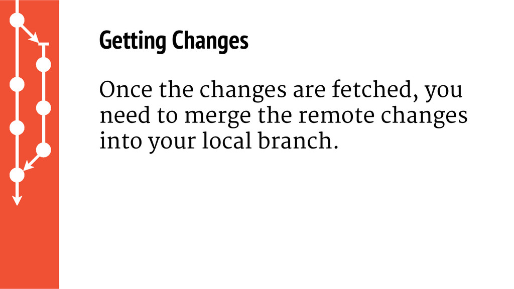 Getting Changes Once the changes are fetched, y...