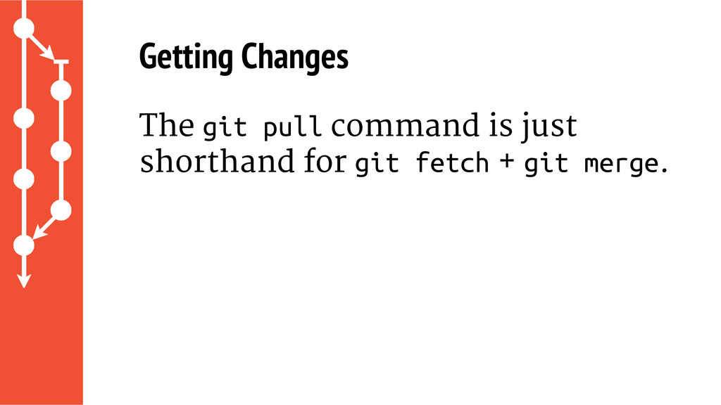 Getting Changes The git pull command is just sh...
