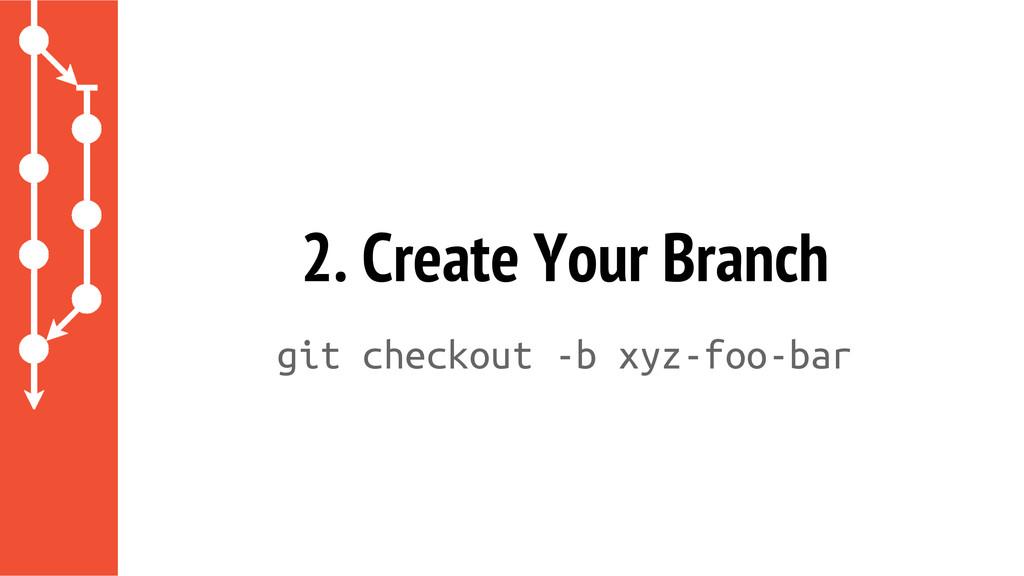 git checkout -b xyz-foo-bar 2. Create Your Bran...