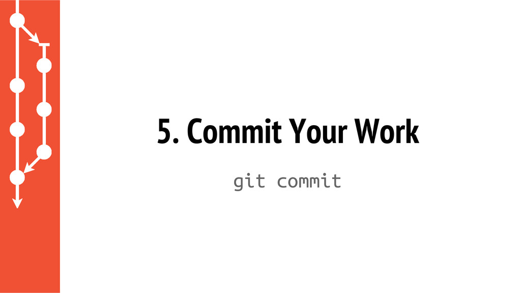 5. Commit Your Work git commit