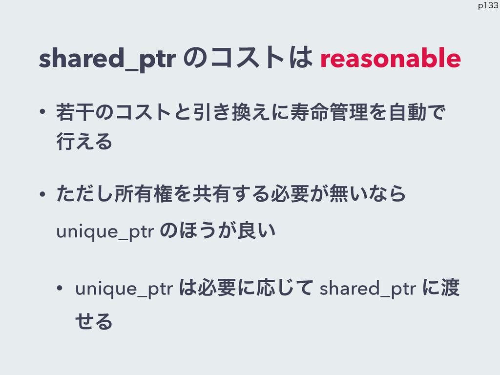 shared_ptr ͷίετ reasonable • एׯͷίετͱҾ͖͑ʹण໋ཧΛ...