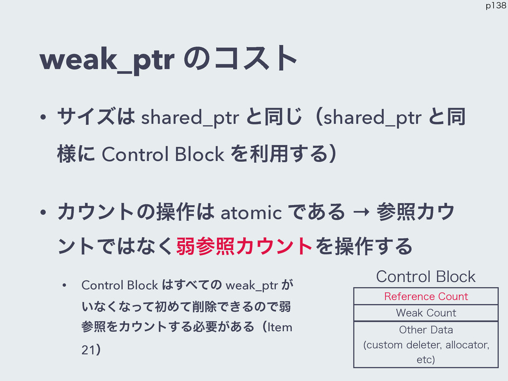 weak_ptr ͷίετ • αΠζ shared_ptr ͱಉ͡ʢshared_ptr ...