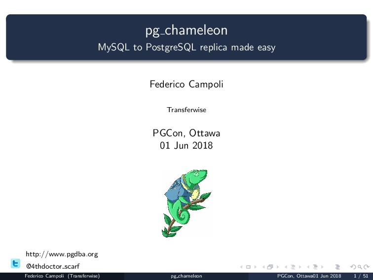 pg chameleon MySQL to PostgreSQL replica made e...